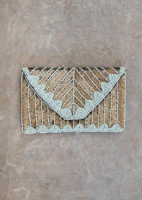 . GRETA SEQUIN CLUTCH BAG