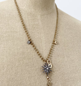 Emma Vowles GALA FINE BEADED CHARM NECKLACE