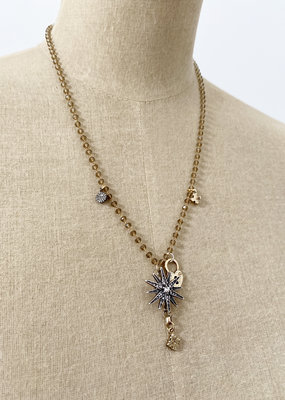 . GALA FINE BEADED CHARM NECKLACE