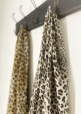 Busby & Fox LOLA LEOPARD PRINT SCARF · Colours