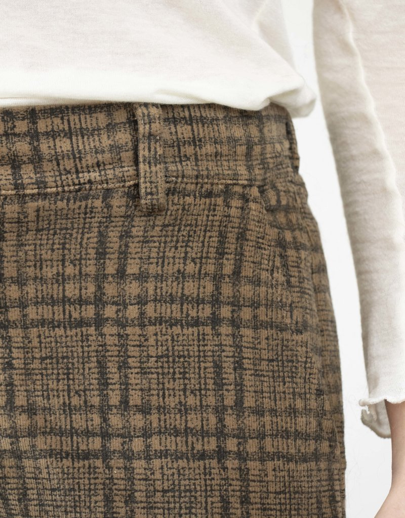 Emma Vowles NELL CHECKED STRETCH CORDUROY TROUSERS