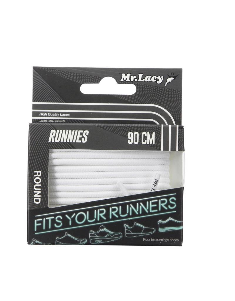 MR LACY Laces Runnies White/GREY/OSFA