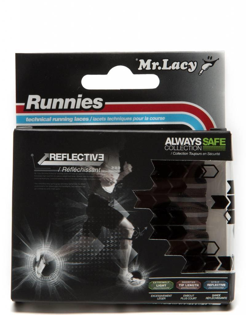 MR LACY Laces Runnies Reflective/BLACK/OSFA