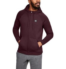 UNDER ARMOUR Rival Fleece FZ Hoodie - Red