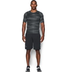 UNDERARMOUR HG Armour SS Compression -grey print