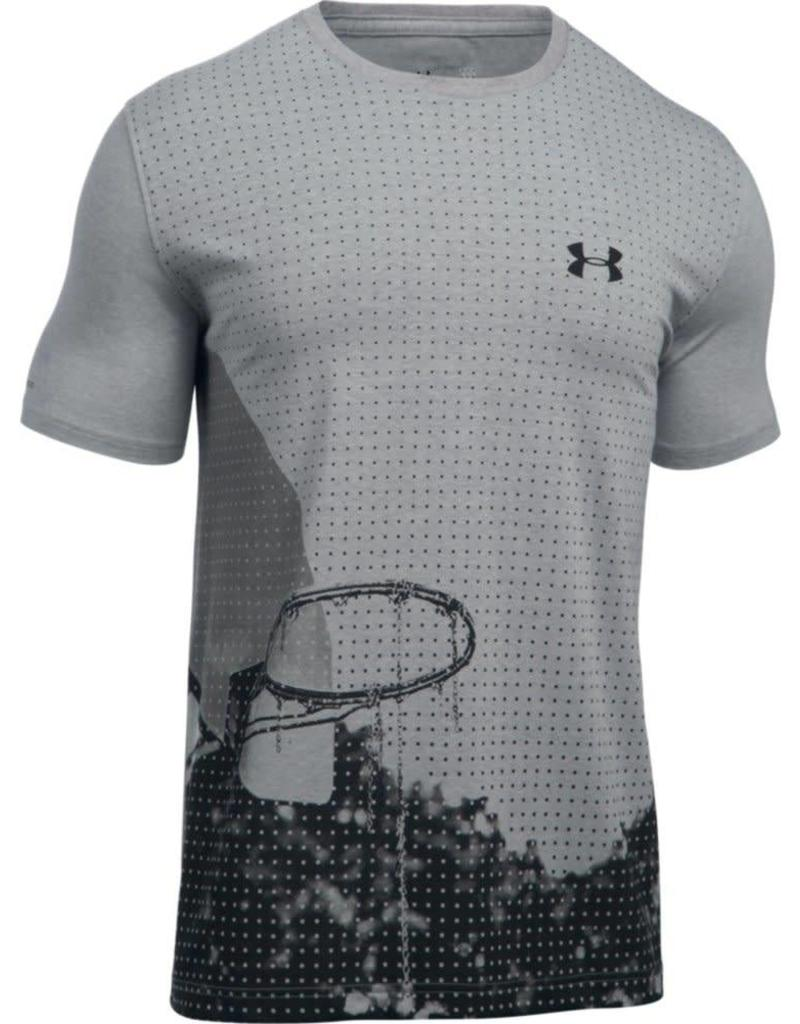 UNDERARMOUR On Court Trouble Tee-grey