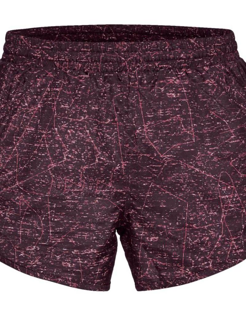 UNDERARMOUR Fly By Printed Short - red