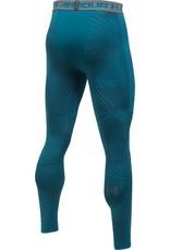 UNDERARMOUR ColdGear ARMOUR JACQUARD LEGGING-blue