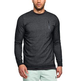 UNDERARMOUR UA Pursuit Block Fleece Crew-GREY