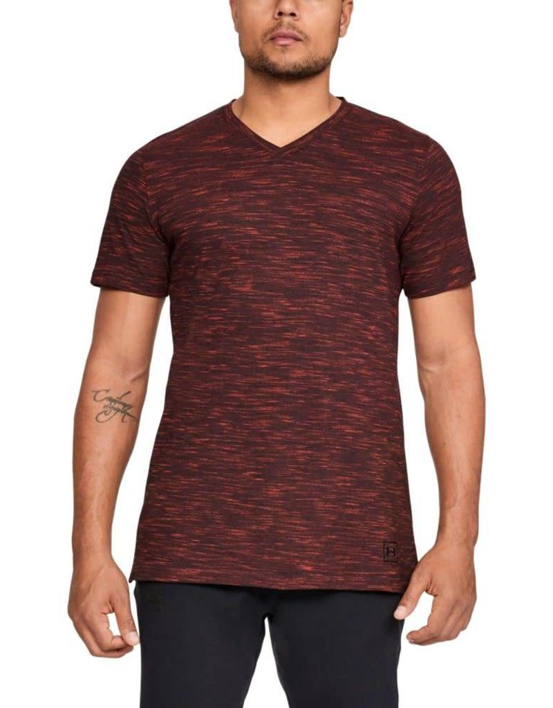 UNDERARMOUR Sportstyle Core V Neck Tee-Red