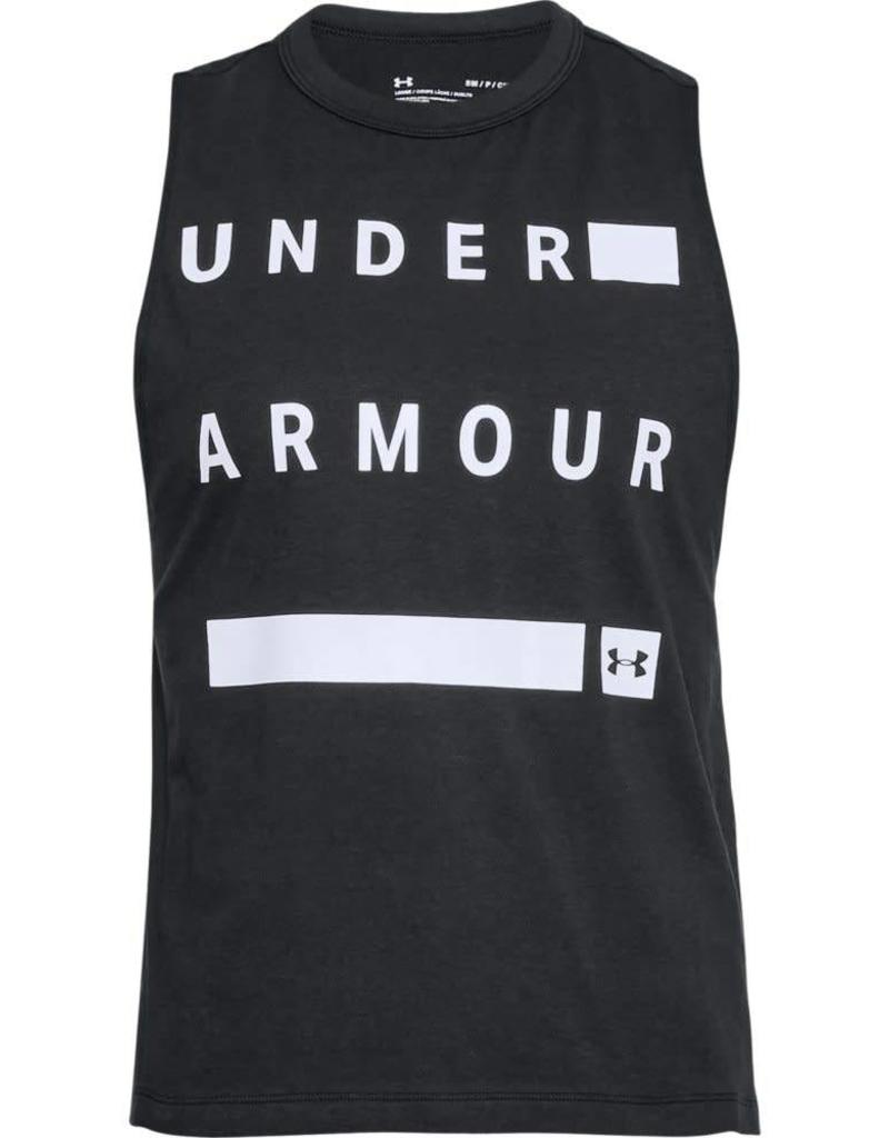UNDERARMOUR Graphic Muscle Tank Linear Wordmark-black