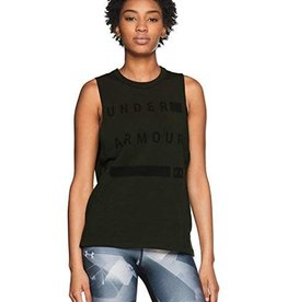 UNDERARMOUR Graphic Muscle Tank Linear Wordmark-green