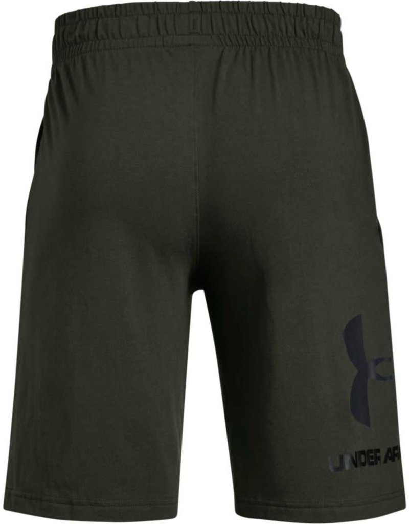 UNDERARMOUR SPORTSTYLE COTTON GRAPHIC SHORT-GREEN