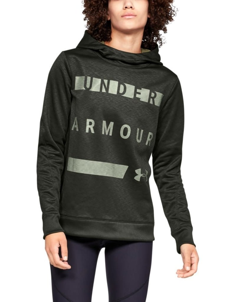 UNDER ARMOUR SYNTHETIC FLEECE PULLOVER WM - Green