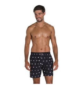 "Speedo M SHORTS PRINTED LEISURE 16"" BLA/WHI"