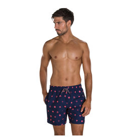 "Speedo M SHORTS PRINTED LEISURE 16"" NAV/RED"