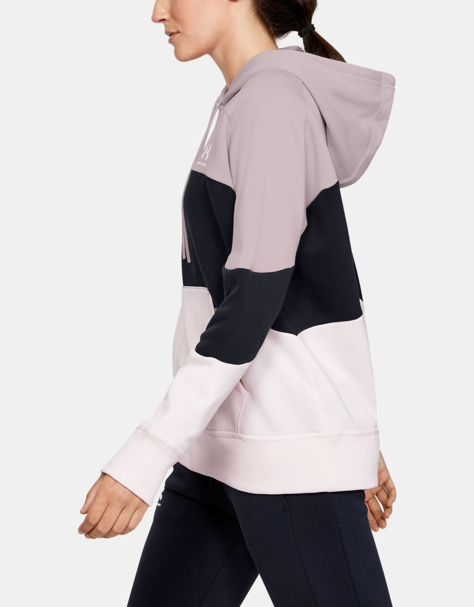 Under Armour Rival fleece cb hoodie pink