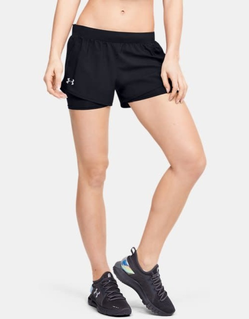 UNDER ARMOUR Fly by mini 2-in-1 shorts - black