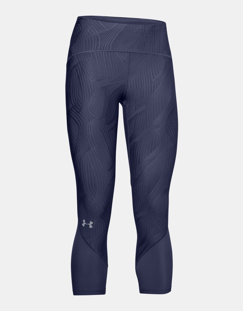 UNDER ARMOUR Fly fast jacquard crop legging - blue