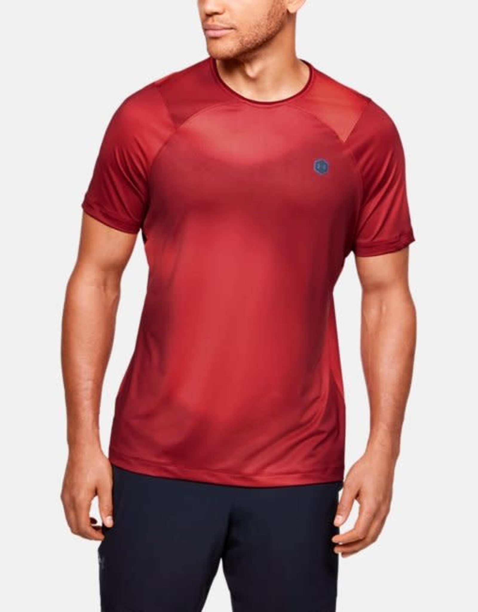 Under Armour Rush surge tee - deep red