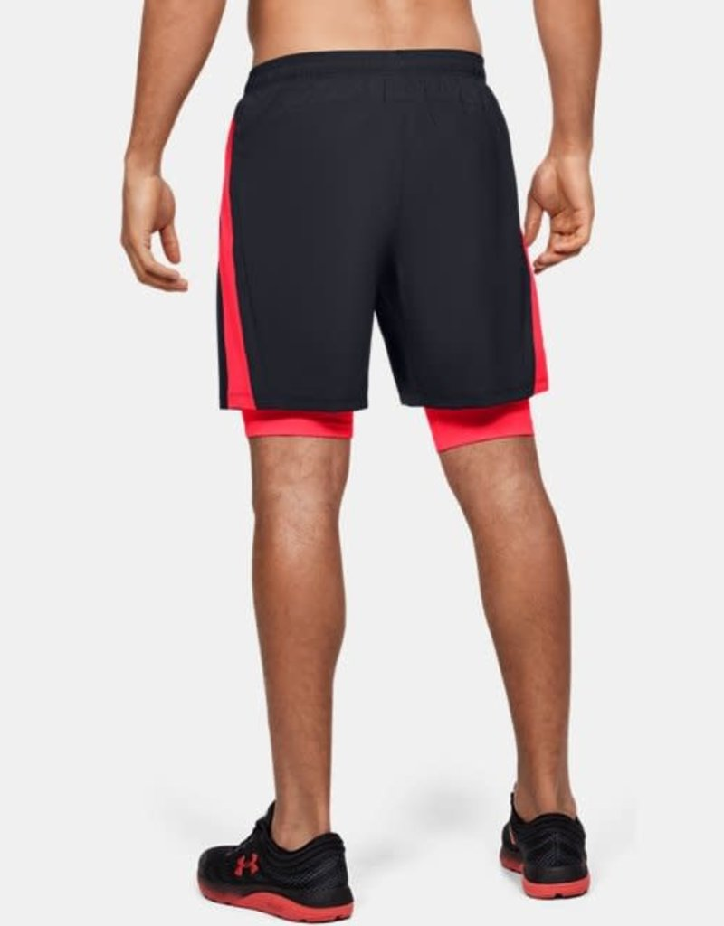 UNDER ARMOUR Launch 2-in-1 shorts - black betared