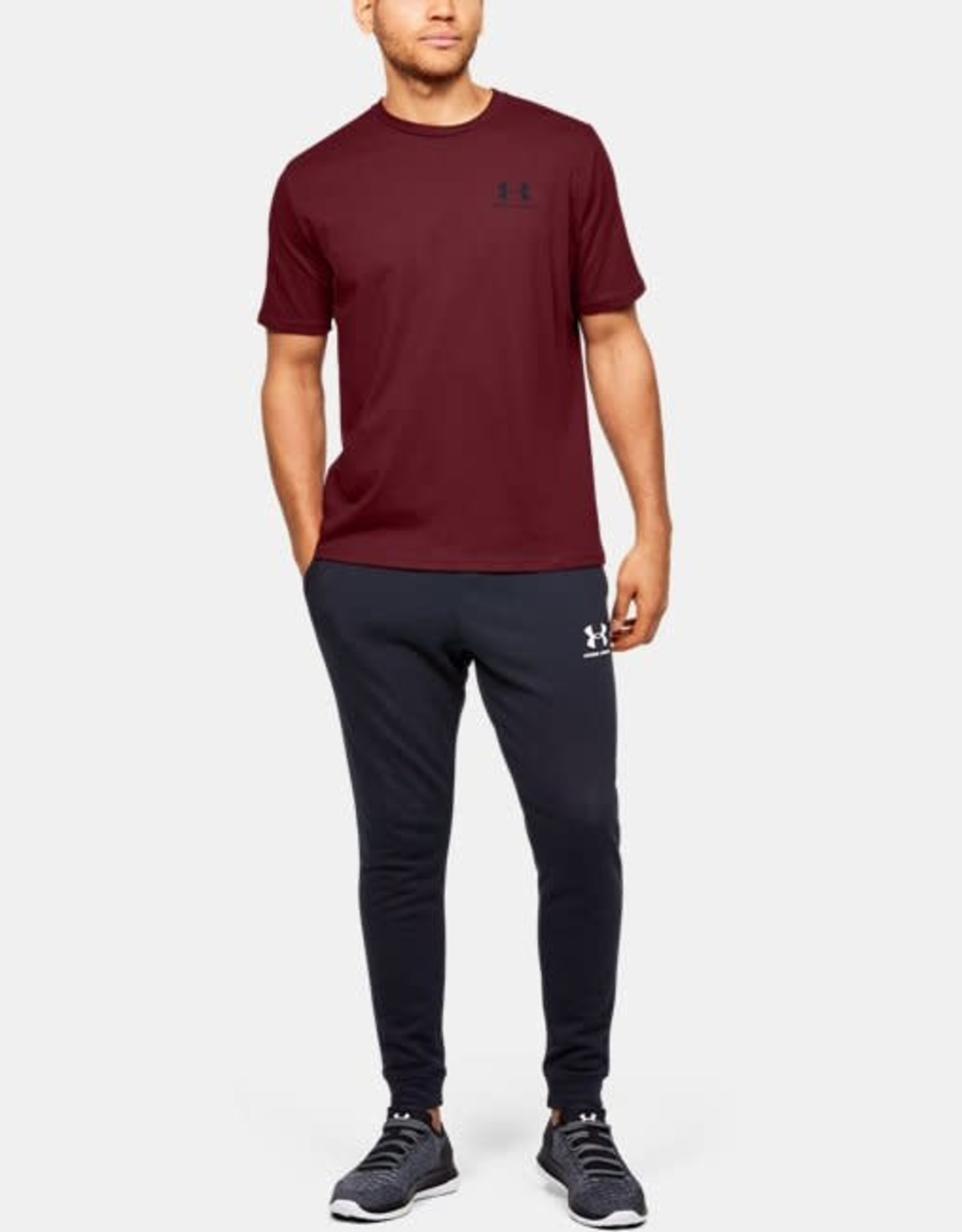 Under Armour Sportstyle left chest tee - red