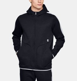 UNDER ARMOUR Recovery fleece full zip hoodie - black