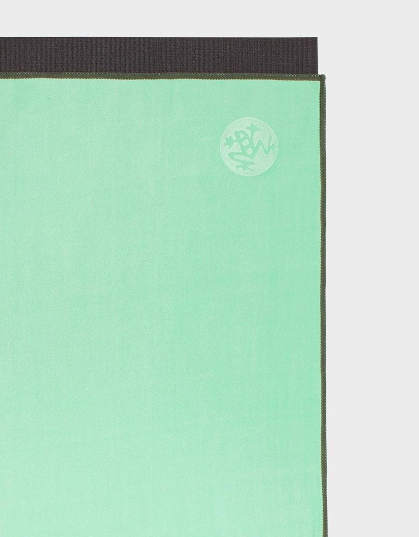 Manduka eQua Mat Towel - Standard -  GREEN ASH