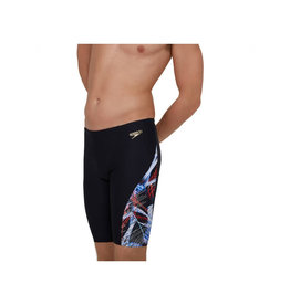 Speedo M Jammer Allover dig V cut BLACK/RED/WHITE