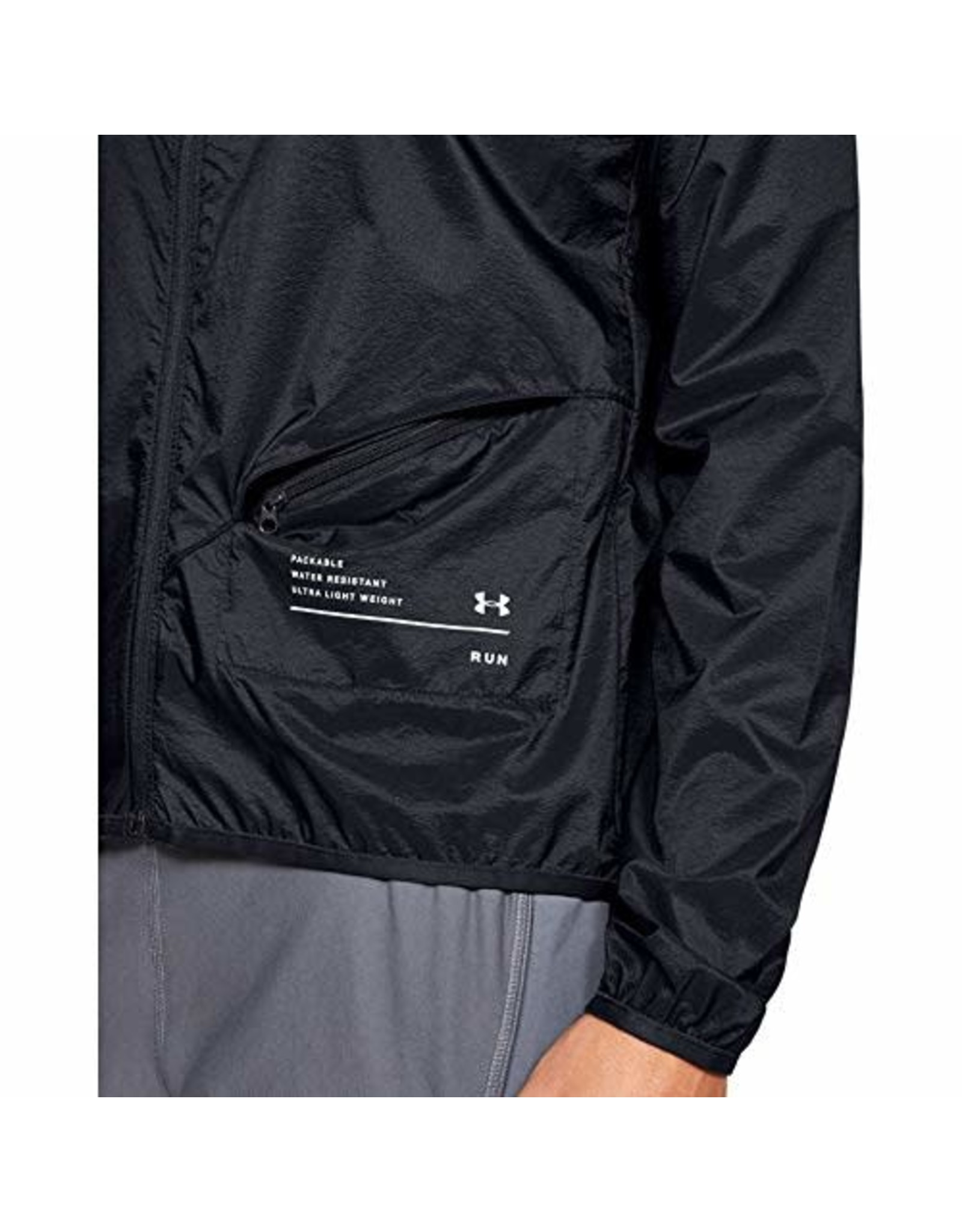 Under Armour Qualifier STORM packable jacket - black