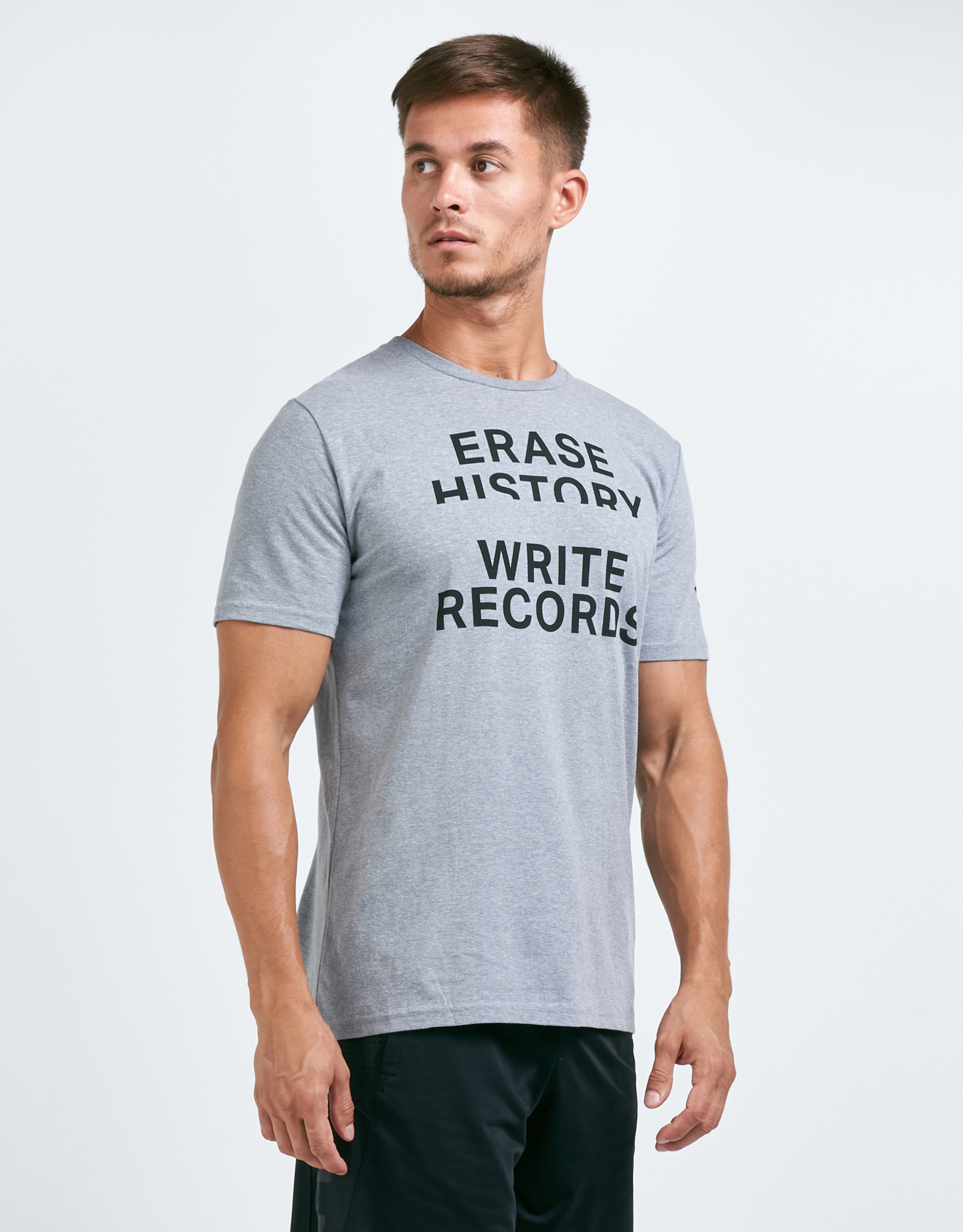 Under Armour Write Records tee - grey