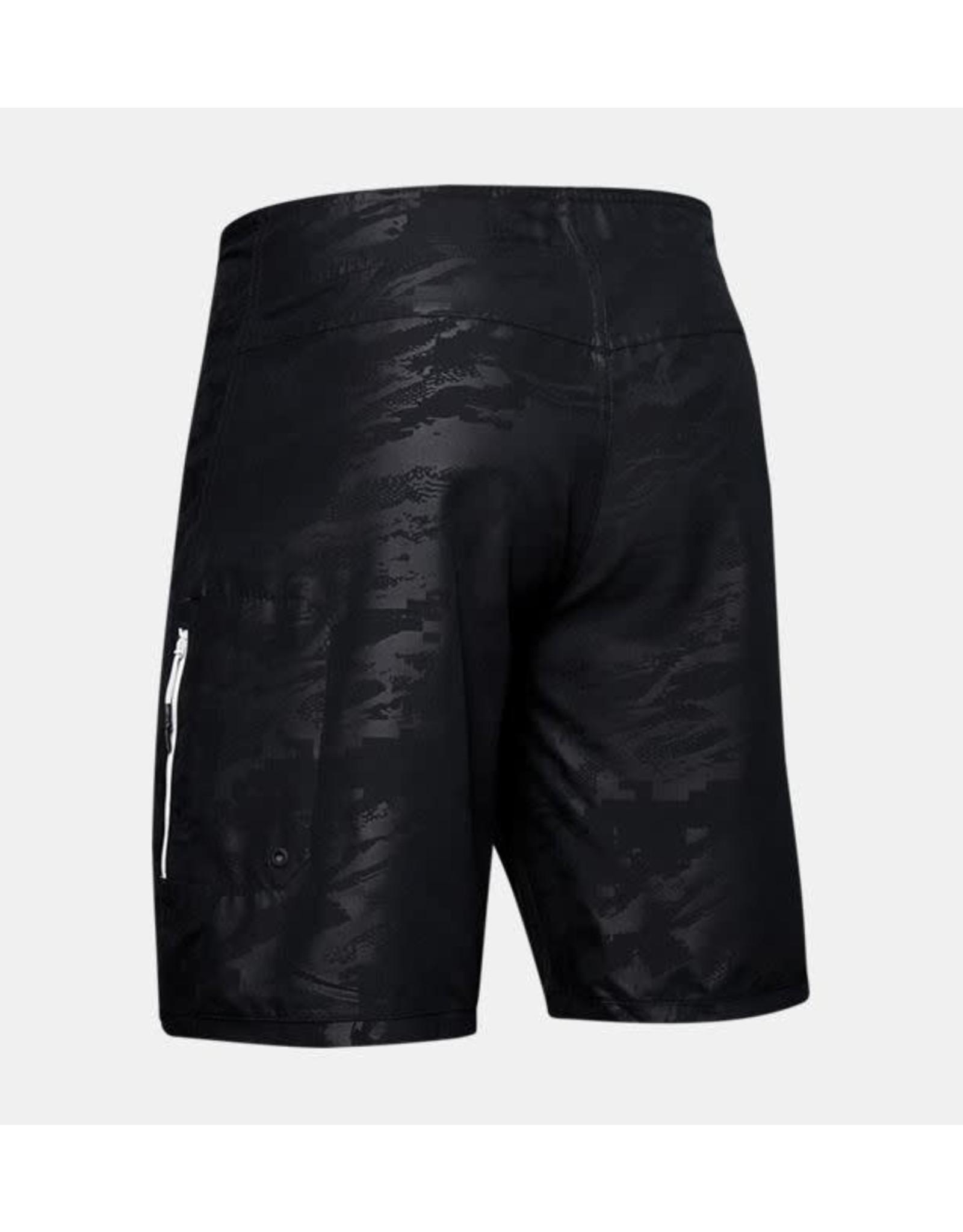 Under Armour Shore Break Emboss Boardshort - black