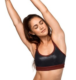 Manduka Cross Strap Bra - black pebble
