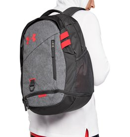 Under Armour UA Hustle 4.0 Backpack-GRY-OSFA 26L