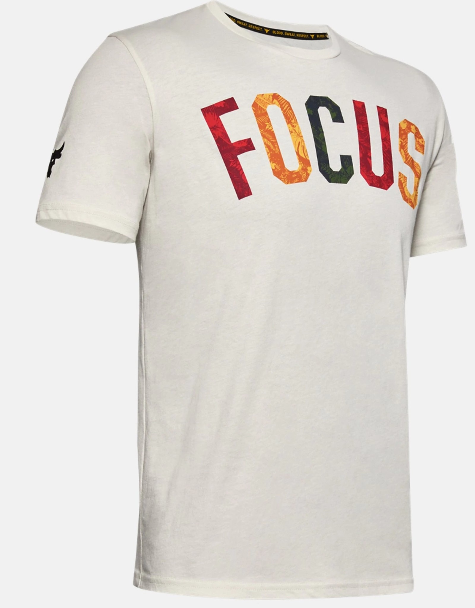 Under Armour UA Project Rock FOCUS SS - white
