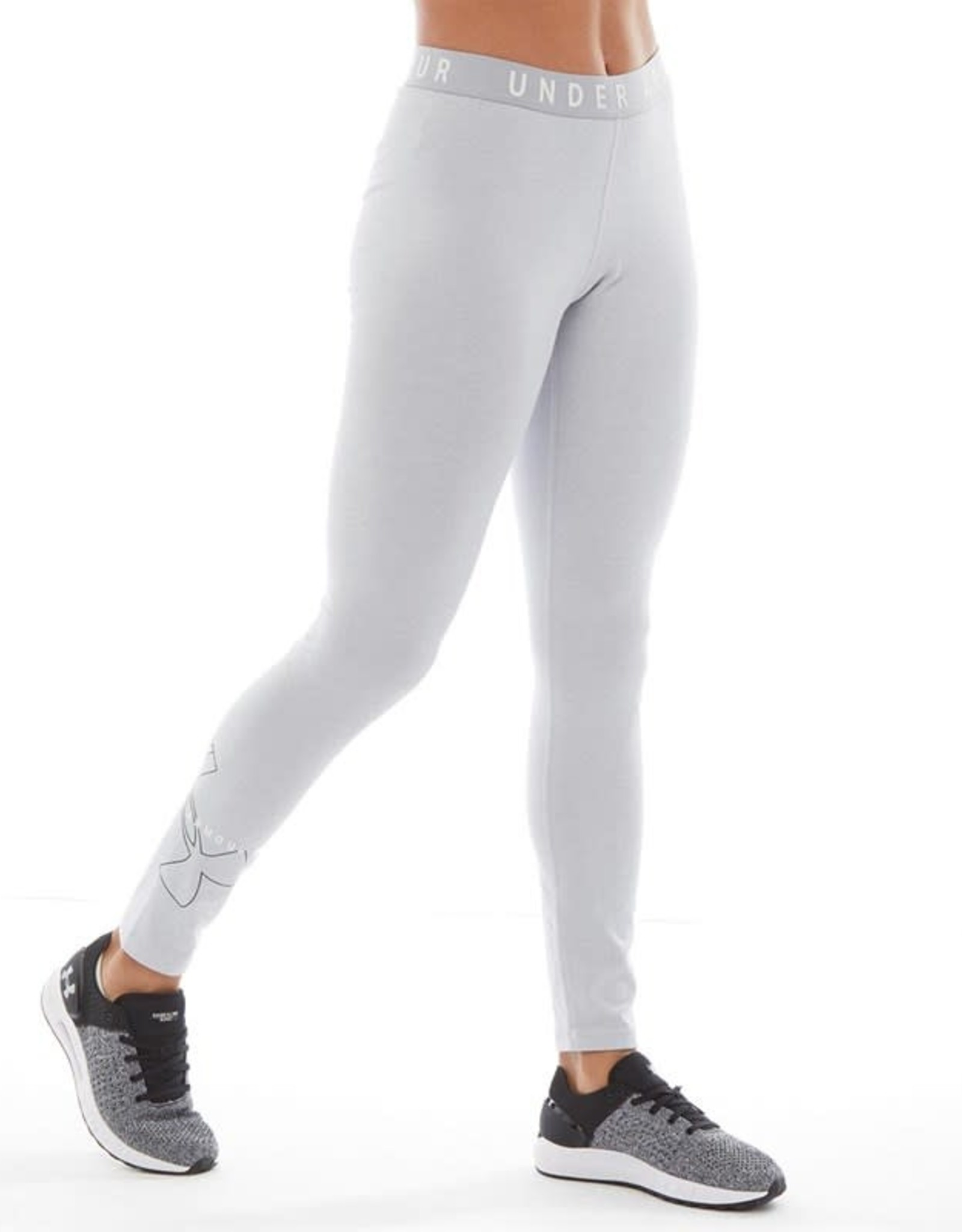 Under Armour Favorite Big Logo Legging - grey