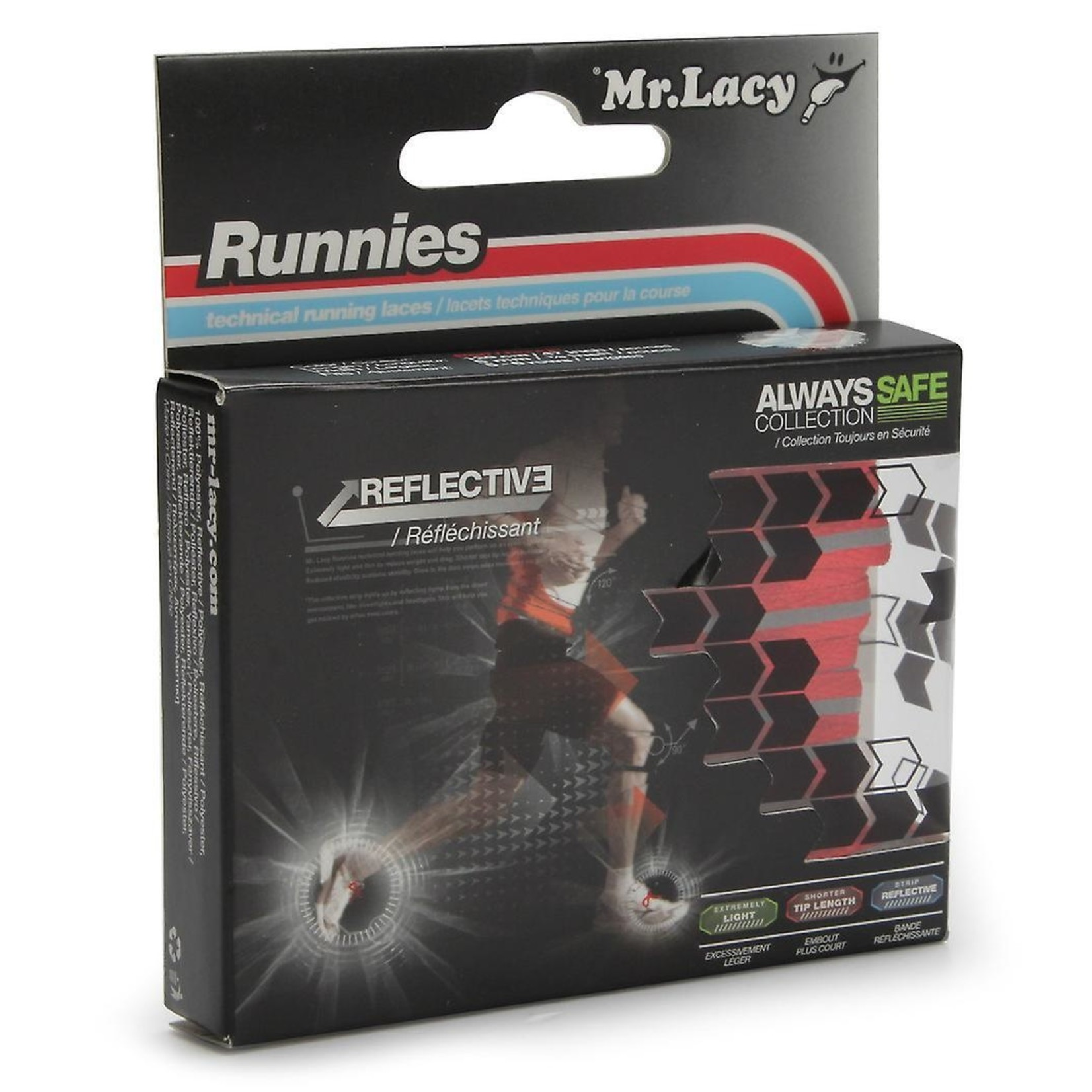 Laces Runnies Reflective/RED/OSFA