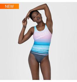 Speedo W BEACH Summer Sunrise U-Back Swimsuit - black/multi