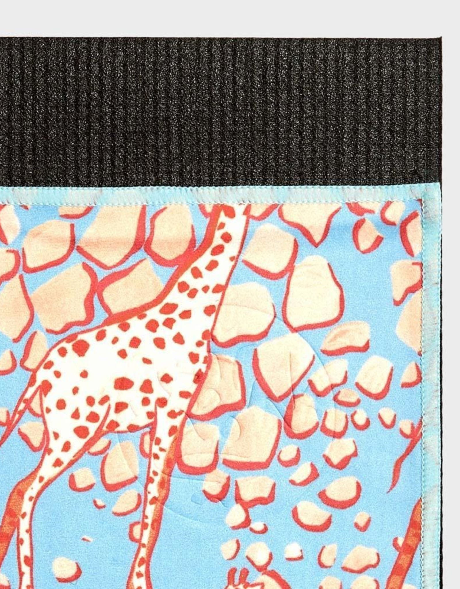 Manduka eQua Mat Towel - Limited Collection - Giraffes Blue