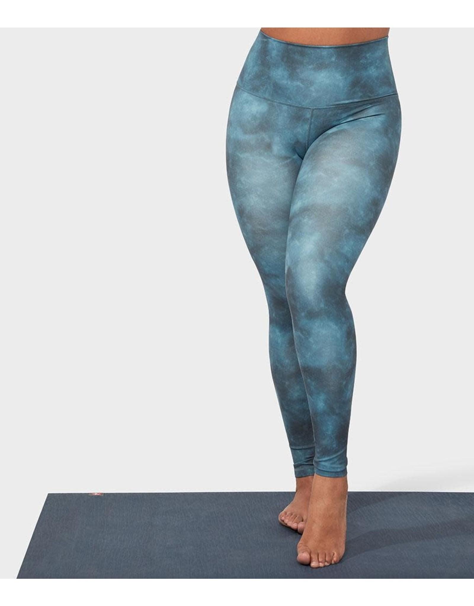 Manduka Essence Legging Printed - Camo Tie Dye Blues