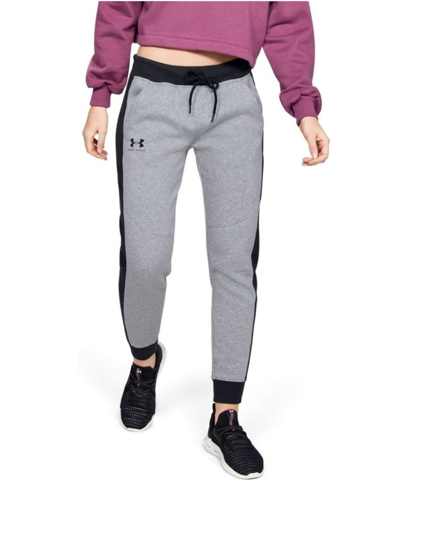 Under Armour Rival Fleece Graphic Novelty Pant-GRY-MD