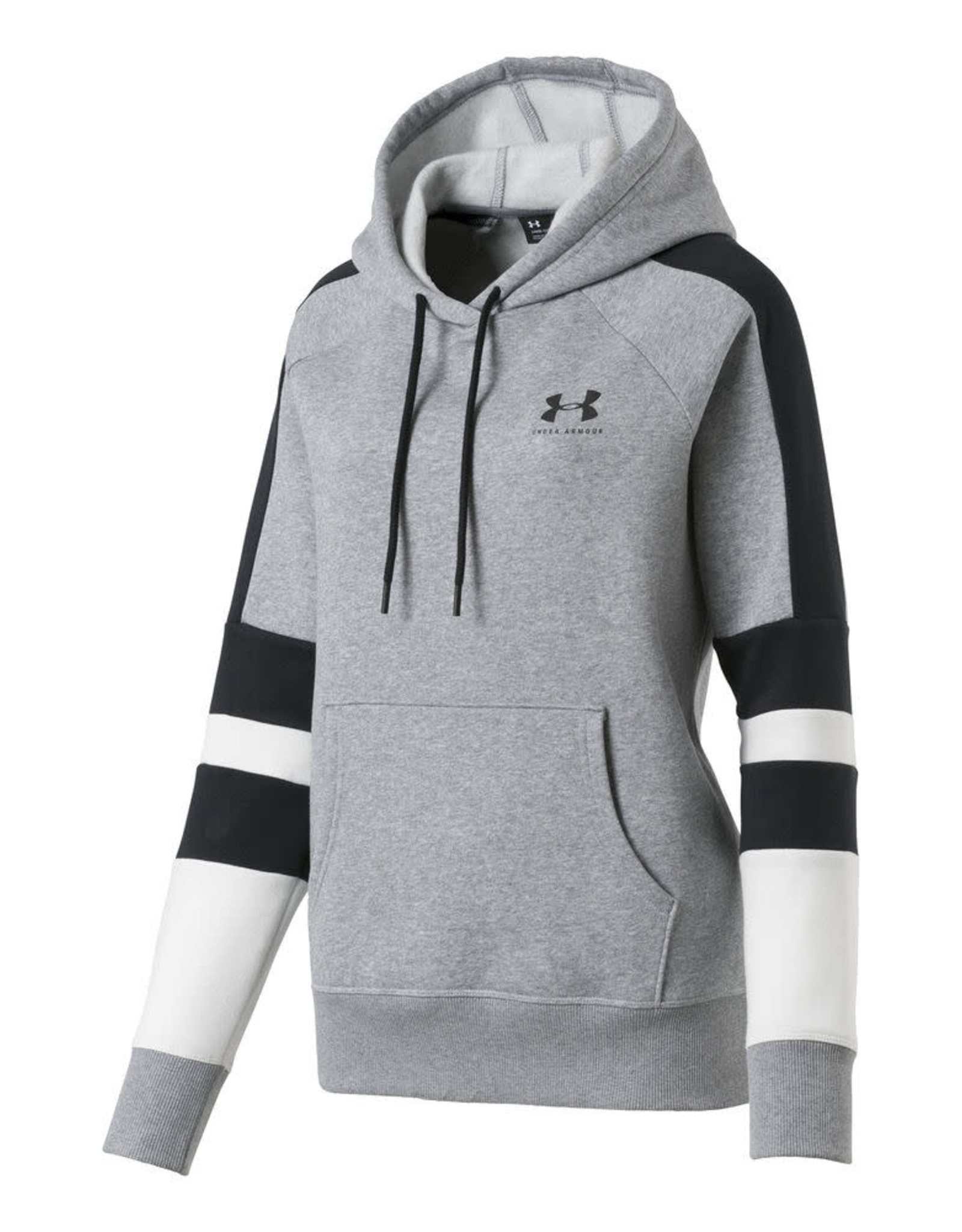Under Armour Rival Fleece LC Logo Hoodie Novelty-GRY-SM