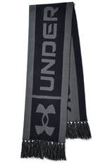 Under Armour UA Big Logo Scarf - Black-Pitch Gray-Pitch Gray - OSFA
