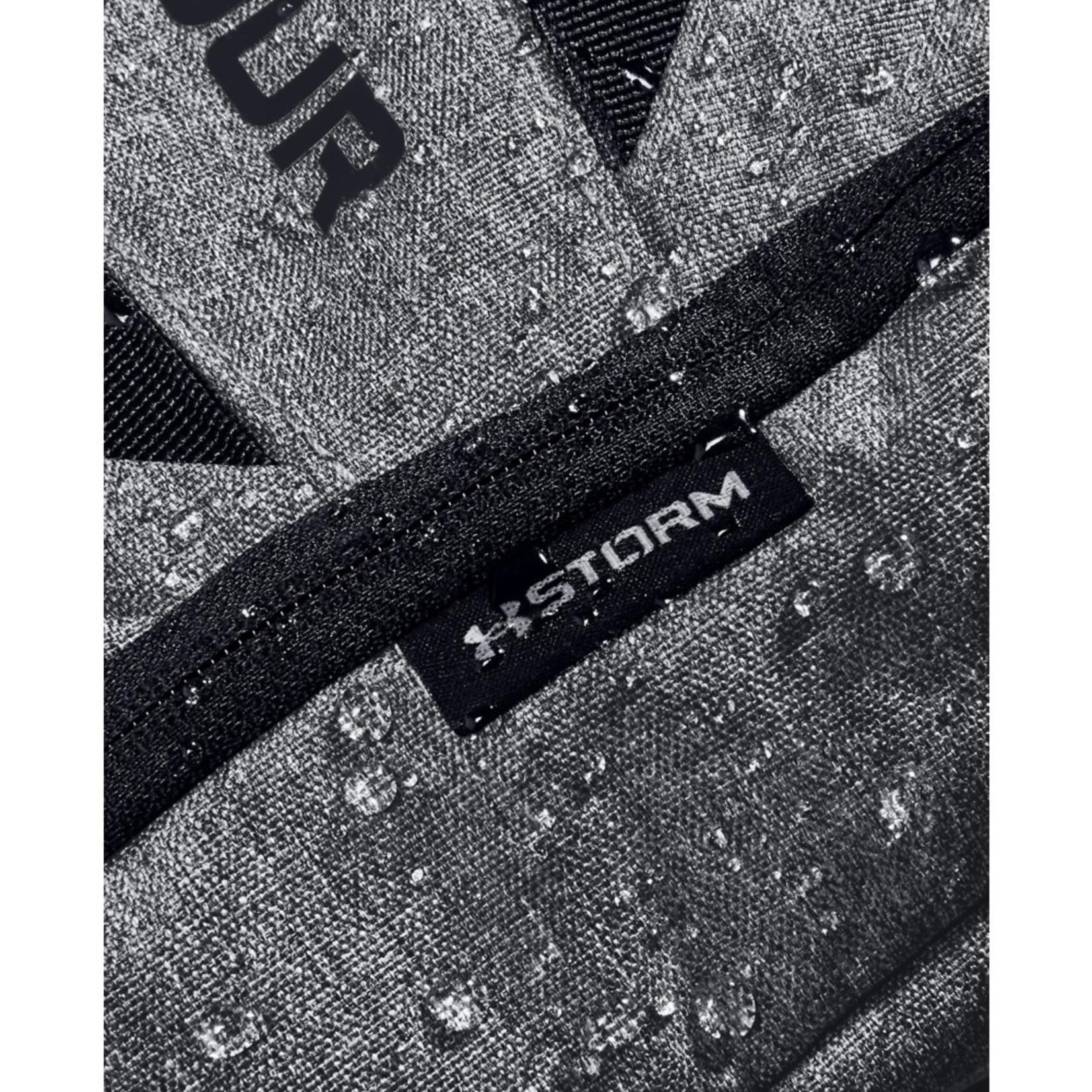 Under Armour UA Hustle 5.0 Backpack - Black-GRAPHITE MEDIUM HEATHER-Black - OSFA