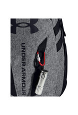 Under Armour UA Hustle 5.0 Backpack - Black-GRAPHITE MEDIUM HEATHER-Black - OSFA