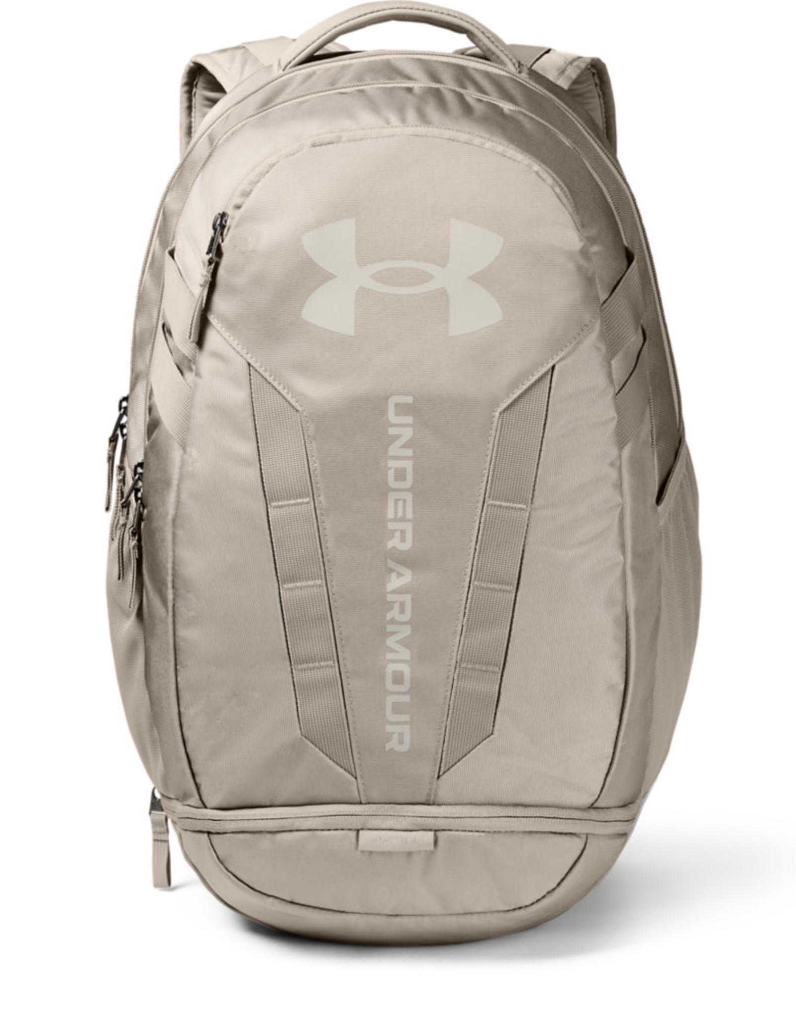 Under Armour UA Hustle 5.0 Backpack - HIGHLAND BUFF-HIGHLAND BUFF-Summit White - OSFA