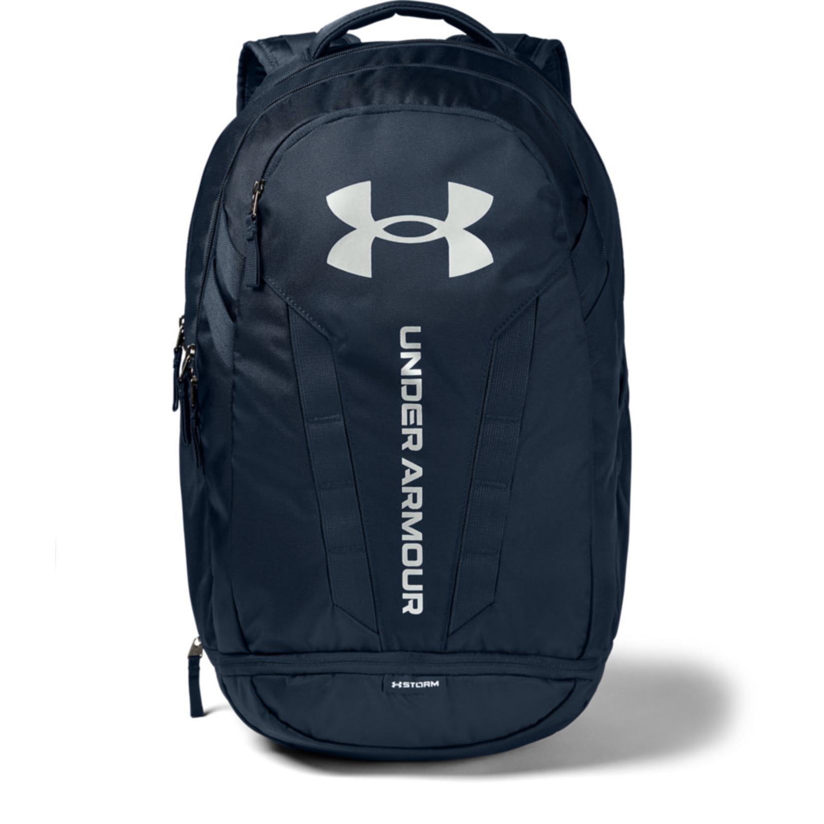 Under Armour UA Hustle 5.0 Backpack - Academy-Academy-Silver - OSFA