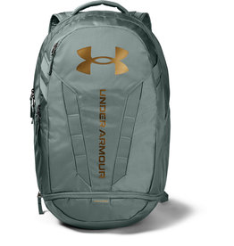 Under Armour UA Hustle 5.0 Backpack - Lichen Blue-Lichen Blue-Metallic Gold Luster - OSFA