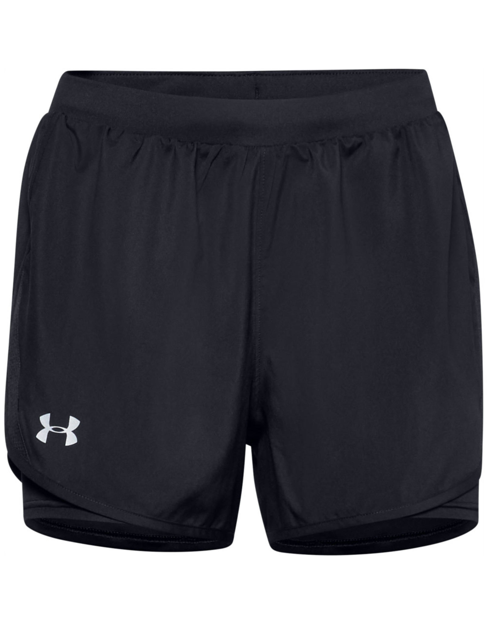 Under Armour UA Fly By 2.0 2N1 Short - Black-Black-Reflective