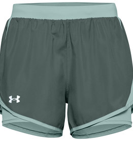 Under Armour UA Fly By 2.0 2N1 Short - Lichen Blue-Enamel Blue-Reflective